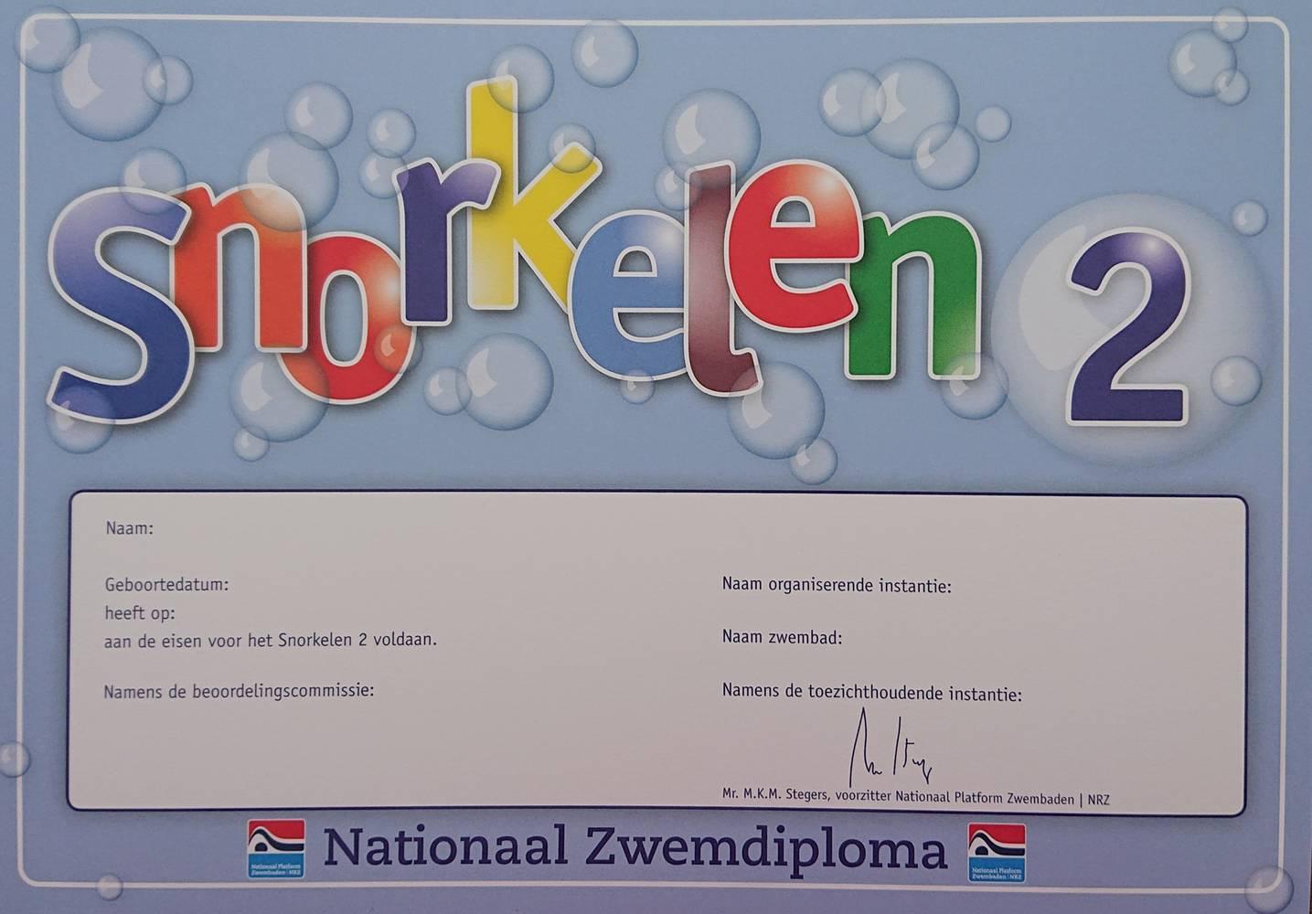 Snorkelen diploma 2