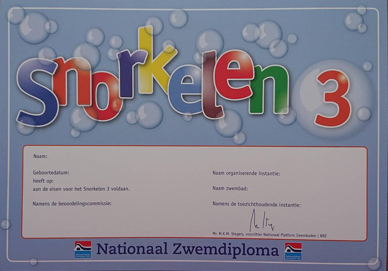 Snorkelen diploma 3
